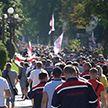 Работники предприятий вышли к МЗКТ, чтобы донести свою позицию Александру Лукашенко