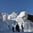 Праздник мороза и снега: фестиваль скульптур проходит в Японии (Видео)