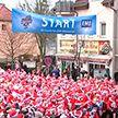 Забег Санта-Клаусов прошёл в Германии