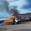 В Новополоцке загорелся грузовик МАЗ. В Пружанском районе сгорел погрузчик
