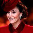 Кейт Миддлтон в наряде цвета киновари восхитила британцев