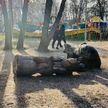 Деревянная скульптура в Запорожье раздавила ребенка