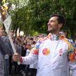 Огонь II Европейских игр прибыл в Новополоцк