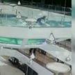 Сотрудница торгового центра упала в аквариум с акулами и... выжила (ВИДЕО)