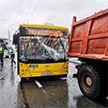 В Минске пассажирский автобус врезалась в грузовик, есть пострадавшие