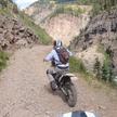 Видеофакт: мотоциклист сорвался с обрыва и записал падение на камеру