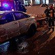 Машина «Яндекс.Такси» наехала на бетонный блок в Минске: пострадали пассажир и водитель