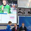 Медалистов юношеских зимних Олимпийских игр чествовали в НОКе
