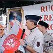 В Польше прошел митинг в поддержку Президента Беларуси