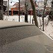 Снег серого цвета выпал в Мордовии