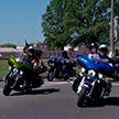 Байкеры из клуба Harley-Davidson навестили детей одной из школ-интернатов Гомельского района