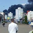 В МЧС назвали причину крупного пожара на ул. Веры Хоружей