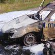 Легковушка и скутер сгорели после столкновения под Солигорском