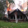В Минске горела баня на территории частного дома (ВИДЕО)