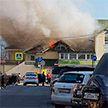 Пожар в магазине рядом с вокзалом в Сергиевом Посаде: пострадал человек