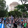 В Греции протестуют против обязательной вакцинации от COVID-19