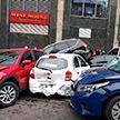 Массовая авария в Киеве: автокран смял около 20 автомобилей