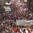 Противники коронавирусных ограничений вновь вышли на улицы Берлина
