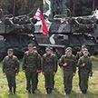 Участники военного учения «Запад-2021» поздравили белорусов с Днем народного единства