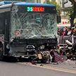Наезд автобуса на толпу людей в Китае, есть жертвы