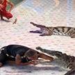 Крокодил едва не откусил руку дрессировщику в Таиланде