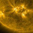 Мощная вспышка произошла на Солнце