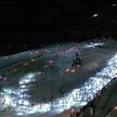 Ночной лыжный забег провели в Альпах