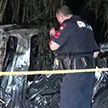 ДТП на электромобиле Tesla: машина врезалась в дерево и загорелось