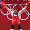 Грузинский штангист Лаша Талахадзе установил три мировых рекорда на Олимпийских играх
