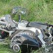 Обгонял на перекрестке. Мотоциклист врезался в Volkswagen возле АЗС в Волковыске