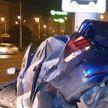 В Минске в осветительную мачту влетел Polo: погибли три человека