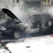 На парковке в Минске пылал Volkswagen Passat
