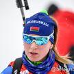 Динара Алимбекова выиграла женский спринт на этапе Кубка мира по биатлону
