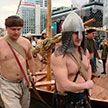 Забег мужчин, которые не боятся холода, прошел ко Дню защитников Отечества в Минске