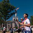 Тима Белорусских принял участие в эстафете «Пламя мира»
