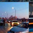 Сразу 10 машин столкнулись в Жлобине