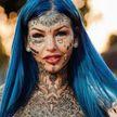 «Голубой дракон»: девушка сделала 150 тату, надрезала язык и покрасила белки глаз, чтобы стать драконом