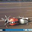 В Минске на проспекте Победителей мотоциклист и его пассажир пострадали в ДТП