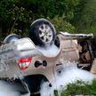 Легковушка опрокинулась в Россонском районе: пострадали два человека