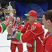 Хоккейная команда Президента Беларуси в 10-й раз стала победительницей республиканских соревнований среди любителей