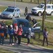 Пьяный водитель решил оторваться от милиции, проложив маршрут побега через детскую площадку (ВИДЕО)