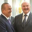 Лукашенко встретился с министром иностранных дел Турции Мевлютом Чавушоглу