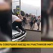 В Могилеве мужчина перегородил дорогу легковому авто