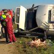 Смертельное ДТП под Гродно: микроавтобус перевернулся и придавил водителя