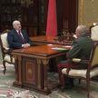 Александр Лукашенко принял с докладом начальника Службы безопасности Дмитрия Шахраева