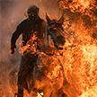В Испании прошёл традиционный фестиваль, на котором лошади прыгали через костёр