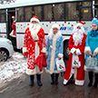 Новогодний десант исполнял желания пациентов в больницах Гомеля