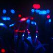 Художник подсветил ультрафиолетом поле с луком-пореем: растения стали похожи на инопланетные
