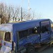 ДТП в Могилёве: маршрутка перевернулась после столкновения с грузовиком