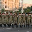 Рота почётного караула провела репетицию перед парадом ко Дню Независимости